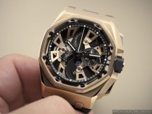 3044ad6fd6b The circumstance is finished with the pristine satin brushed finish which Audemars  piguet royal oak offshore tourbillon chronograph platinum replica is well  ...